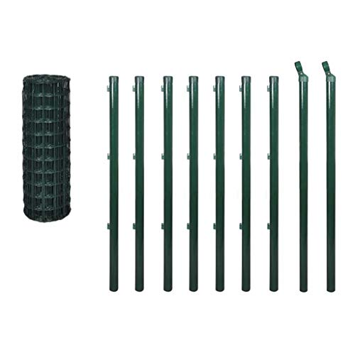 vidaXL Kit de grillage 10 x 0,8 m Clôture de jardin terrasse Bordure de pelouse