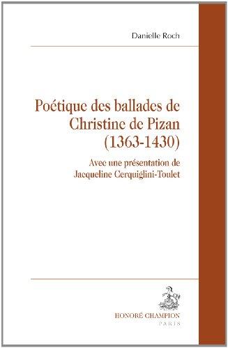 Potique des ballades de Christine de Pizan.