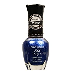 KLEANCOLOR Matte Nail Lacquer - My My Sapphire