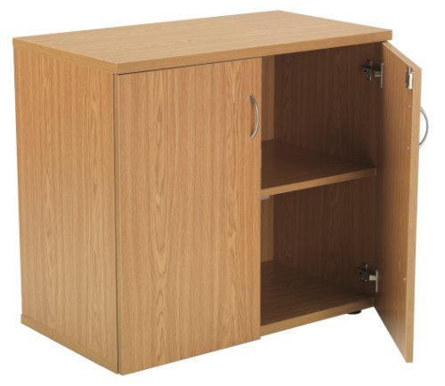 Best Oak Desk High Cupboard, Lockable Double Doors and Single Shelf – Office Cupboard From the Smart Office Furniture Range by Relax Office on Line