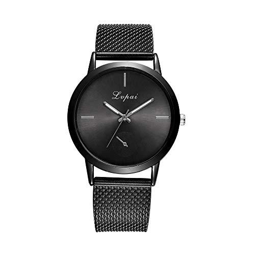 gaddrt Uhren, MEIBO Frauen Lässiger Quarz Rostfrei Stahl Newv Strap Uhr analoge Armbanduhr (C)