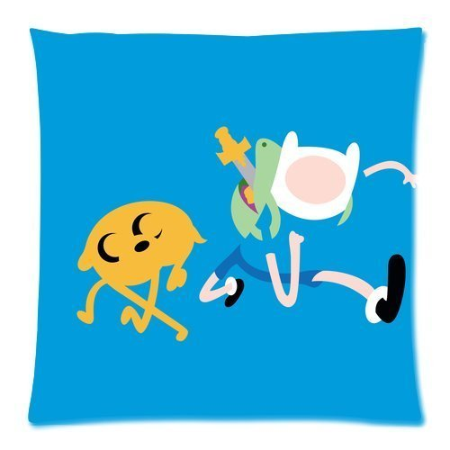 nicholascgshoponline c6037F cotone lino Decorative Throw Pillow Cover cuscino Adventure Time Custom (Adventure Time Cuscino)