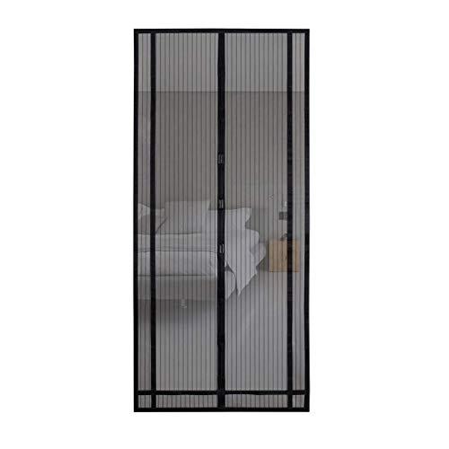 Sekey 220x130 cm tendina magnetica per zanzariera, ideale per porte da balcone, cantine, terrazze (ritagliabile in altezza e larghezza), facile da montare, colore: nero