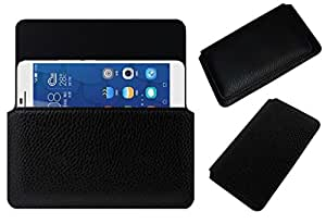 Acm Horizontal Leather Case For Huawei Honor 6 Plus Mobile Cover Carry Pouch Holder Black
