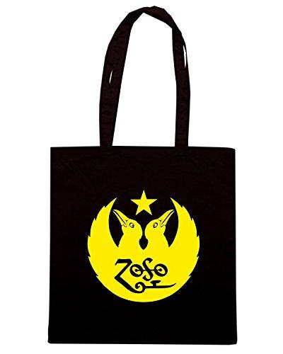 T-Shirtshock - Borsa Shopping FUN0806 black crows band decal 68068 Nero