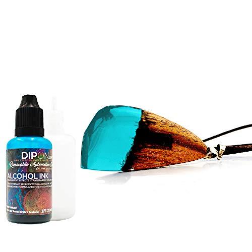 DIPON Intense Teal Türkis Alkoholtinte Alcohol Ink 20 ml für Epoxidharz Resin Petri Art Farbstoff Transluzent Epoxy -