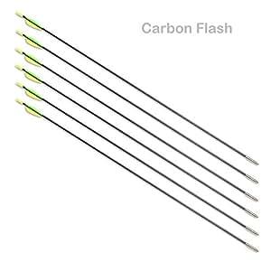 Lot de 6 Flèches CARBON FLASH 5.5 - 750