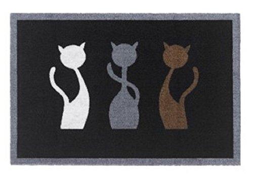 Sauberlaufmatte mit Katzenmotiv 60x40 cm