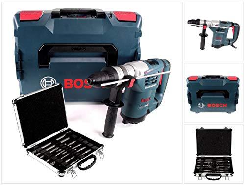 Bosch GBH 4-32 DFR 900 W 4-stufiger Bohrhammer mit SDS Plus Aufnahme in L-Boxx (0611332104) + 11 tlg. Meißel- und Bohrerset