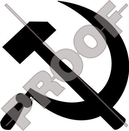 HAMMER & SICHEL Sowjetischer Kommunist 100mm Auto & Motorrad Aufkleber, Vinyl Stickers- WAHL VON 22 FARBEN