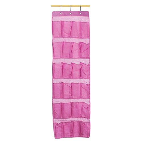 Bolsillos Baldas Colgantes De Almacenamiento Organizador Estante Para Zapatos / Ropa / Juguete - Rosa, 24 piezas