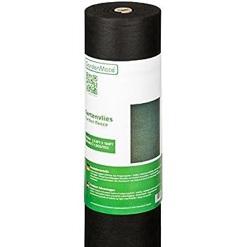 GardenMate® 1m x 50m Rouleau bâche anti-mauvaises herbes en tissu non tissé 50gms