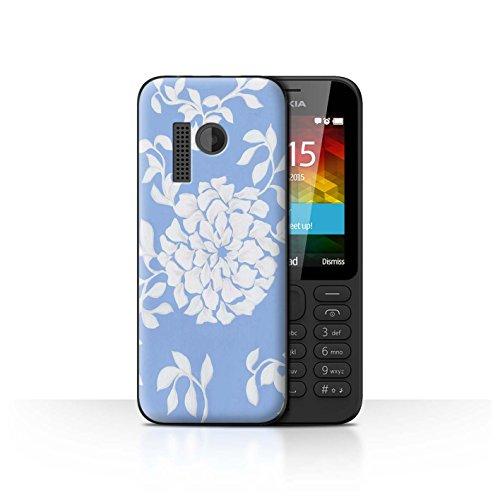 Stuff4® Hülle/Case für Nokia 215 / Leichte Blume Muster/Blau Mode Kollektion