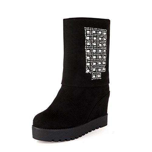A&N ,  Damen Chukka Boots , schwarz - schwarz - Größe: 36.5 (All Boots Frauen Saints)