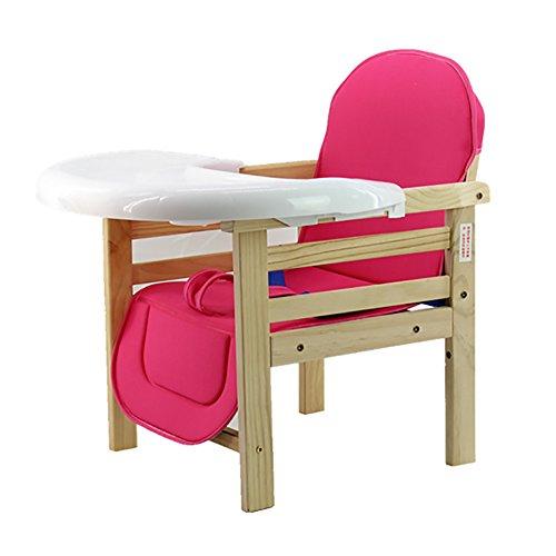 Kinderstuhl Massivholz Baby Mehrzwecktisch Kinderstuhl Kind Hause Kann Gewicht 50kg Sitzerhöhung Tragen (Farbe : Pink) (Tabelle Kleinkind 3-sitz)