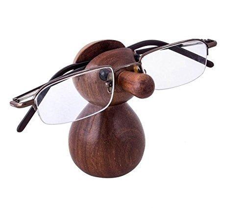 IndiaBigShop Holz Hand geschnitzten klassischen Sheesham Holz NUD-förmigen Brillen Brillenhalter perfekt für Home und Office Decor 3,5 Zoll - Das Perfekte Home Office