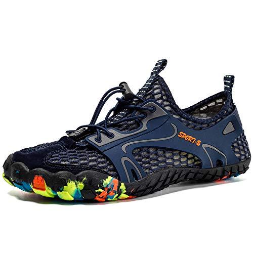 Shoes Schnelltrocknende Outdoor-Wasserschuhe, rutschfeste Barfuß-Fünf-Finger-Schuhe, sommerlich leichte Strandwander-Sandalen, Wassersportschuhe für Herren und Damen ZDDAB