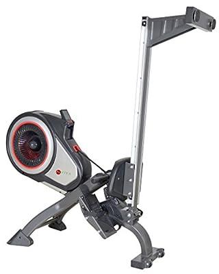 AsVIVA RA11 Rudergerät Ergometer Rower Cardio XI - Heimtrainer/Fitnessgerät inkl. Fitnesscomputer und Pulsempfänger für das Workout, schwarz/grau ...