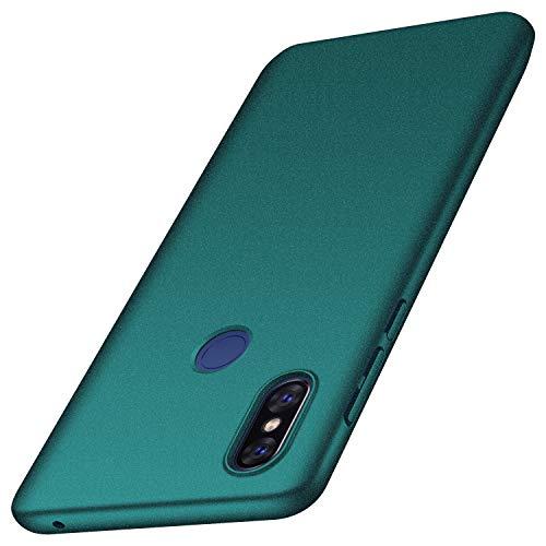 anccer Serie Matte für Xiaomi Mi Mix 3 Hülle, Elastische Schockabsorption und Ultra Thin Design (Kies Grün)
