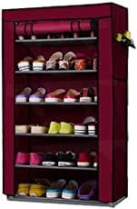 Sterling Steel And Fabric Shoe Rack With Non Woven Dust Proof Cover (Multicolour)