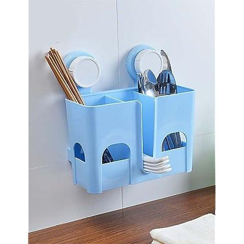 ZDQ-Portasapone da doccia , Moderno Pittura Montaggio a muro , blue