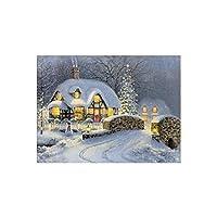 Luwu-Store Christmas Snow House Cross Stitch Painting DIY 5D Diamond Embroidery