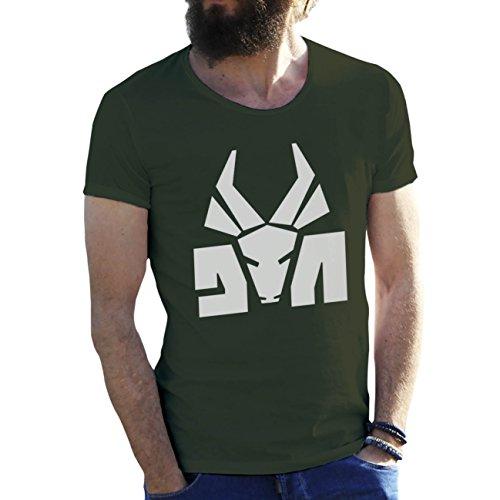 Die Antwoord Top Rap Star Ninja Yolandi Logo Verde Militar Camiseta para Hombre Large