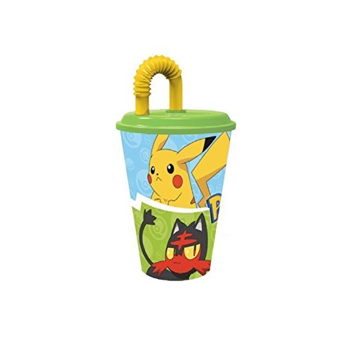 Pokemon – Trinkglas mit Deckel und Rute 430 ml, Stor 06830) (Party Insekten Supplies)