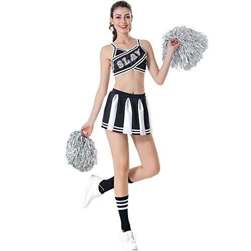 MCO%SISTSR Cheerleader-Kostüm,Mädchen Cheerleading Uniform Sexy Tops Röcke Fußball High School Musik Kostüme Sportwettbewerb Dance ()