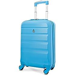 Aerolite ABS Maleta Equipaje de mano cabina rígida ligera con 4 ruedas, 55cm, Azul