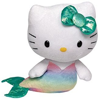 Hello Kitty - Mermaid Plush - TY Beanie - 15cm 6""