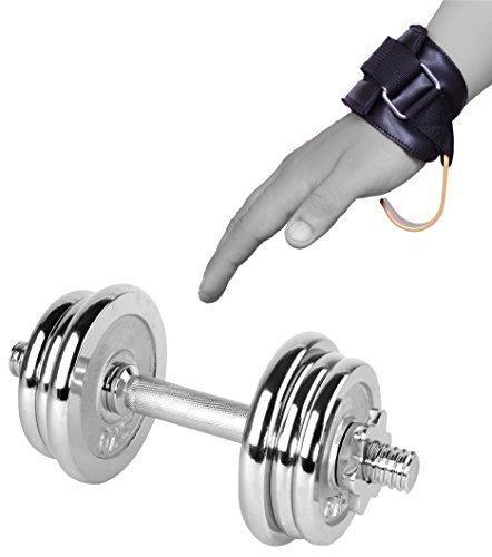 EVO Fitness Gewichtheben Haken Fitness Riemen Gel, Gepolstert Handgelenkstütze Wickel-Armband Bodybuilding