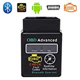 ELM327 Mini Standard Bluetooth OBD II Scanner CAN Bus OBD2 Interface Diagnosegerät (Deutschland Lagerhaus) (Bluetooth für Android, Schwarz)