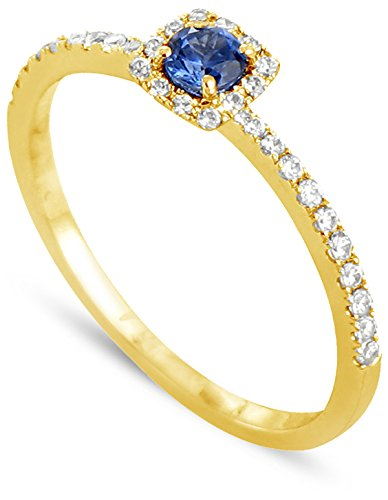 Tous mes bijoux anillos Mujer oro amarillo 9 k (375) zafiro