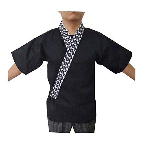 Restaurant-Uniform - japanische Sushi-Koch-Mantel-Uniformen für Männer und Frauen - A1 (Japanische Mäntel Für Frauen)