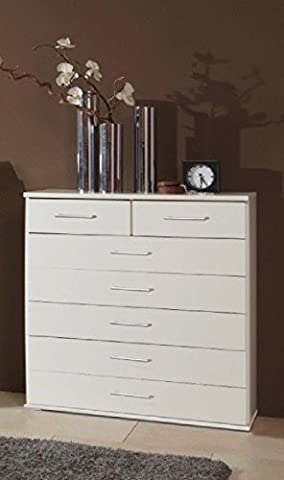 Germanica™ MUNICH Matching Chest Of Drawers In a Choice of 3 Colours and 3 Sizes (White 7 Drawer Chest)