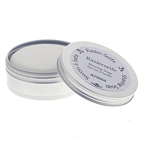 Aurawerk Rasierseife 100g Seife für die Rasur in Alu-Dose -