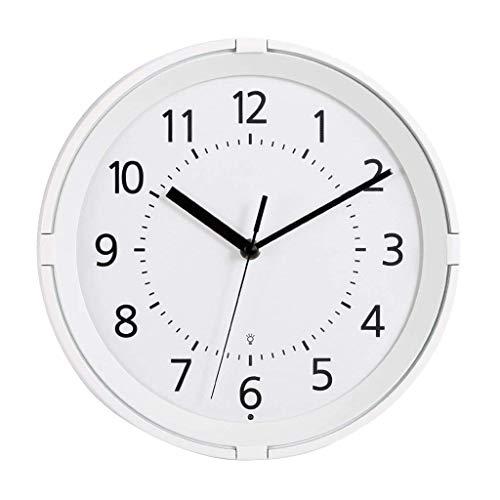 ZHAS Horloge murale Avec Quartz créatif d'intérieur - Horloge murale européenne - Horloge murale lumineuse - Avec fonction veilleuse - Avec fonction de veilleuse à Induction - Salle pour la mère
