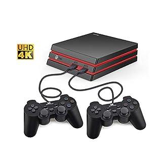 DZSF Retro Spiel-Konsole Mit Drahtgriff HDMI Videospielkonsole 64 Bit-Unterstützung 4K Output Retro 600 Klassik Familienvideospielen
