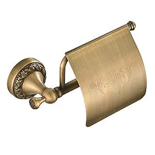 Slnglik Toilettenpapierhalter Badezimmer Küche Rostfrei Messing Wandhalterung Retro Geschnitzt Bronze Toilettenpapierhalter Bohren Installation