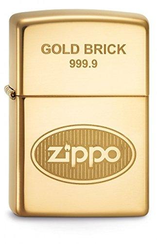 Zippo 60001363 Gold Brick 9999 Feuerzeug, Messing, One Size