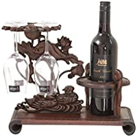 FELICIGG Wine Rack Independiente de Madera Hold 2-Botellas de Madera Rack para el hogar, Cocina, Bar, Sala de Estar (Color : Dark Brown)