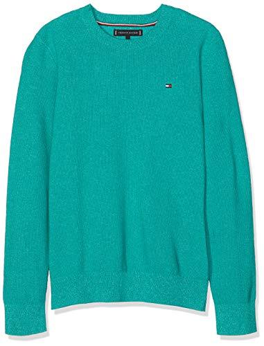 Tommy Hilfiger Jungen Twisted Rice Corn Sweater Pullover, Grün (Dynasty Green 303), 152 (Herstellergröße: 12)