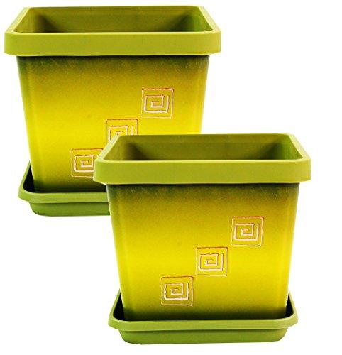 lot-de-2-pots-de-fleurs-carre-couleur-avec-soucoupe-17-cm-vert-olive-motif-grec