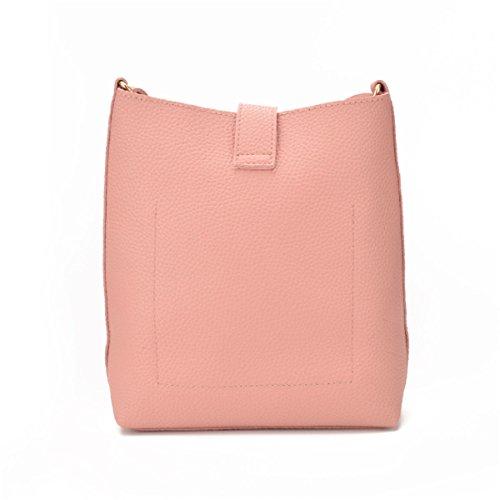 Europa Und Die Vereinigten Staaten Einfache Schulter Damen Tasche Eimer Tasche Schrägen Schultertasche Pink