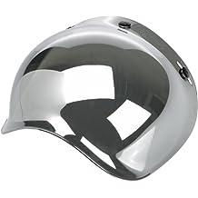 Motorcycle Storehouse - Visera para casco jet Bubble Biltwell, color espejo cromado