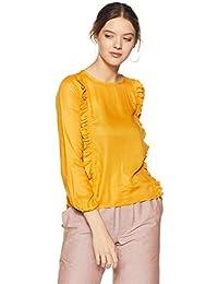 People Women's Plain Regular Fit Top