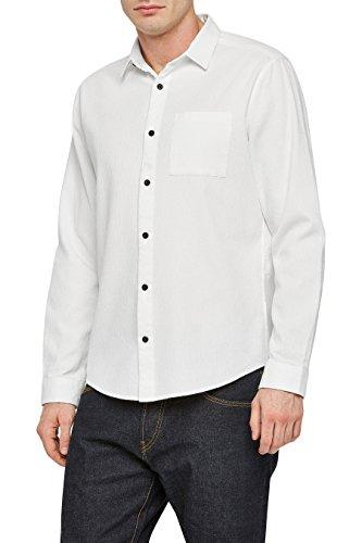 next Homme Chemise Texturée À Manches Longues Blanc