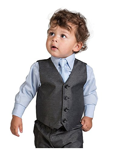 Shiny Penny Boys Charcoal & Blue Suit, Page boy Suits, 3 months - 8 years