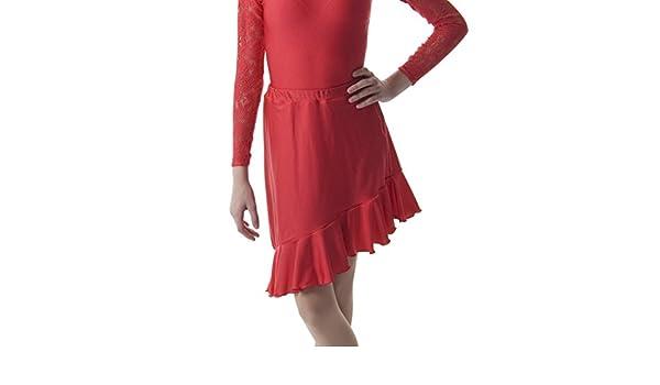 Dance Gear LSKIRT Children/'s Cotton Lycra Frilled Hem Latin Skirt